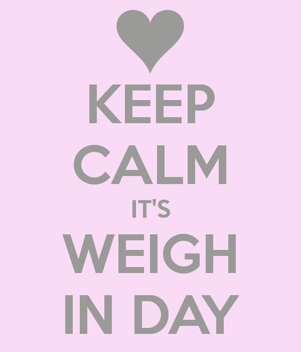 It's Weigh In Day & #ElectionDay! Let's getit!